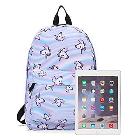 Unisex Boys Girls Backpack Schoolbag, Tezoo 3D Unicorn Print Rainbow Fantasy Backpack Fully Printed Cabin Luggage Travel Rucksack Fashion Shoulder