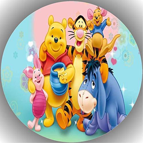 Fondant Tortenaufleger Tortenbild Geburtstag Winnie Pooh T21
