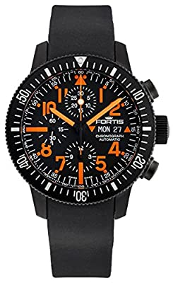 Limited Edition Fortis B-42 Black Mars 500 Automatic Chrono Mens Watch Calendar 638.28.13.K