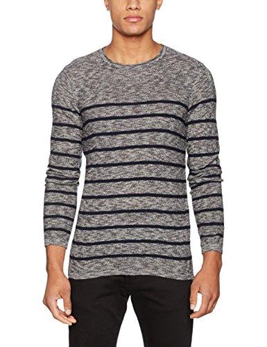 Mavi Herren Sweatshirt Striped Sweater Blau (Total Eclipse 23077)