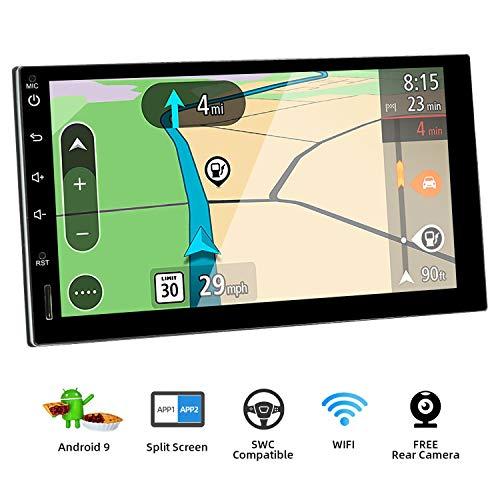 BXLIYER Autoradio Double din Android 9.0 de Navigation de Voiture stéréo avec / 7 Pouce Quad Core Radio multimédia de Voiture/ Soutien 256G SD USB Volant WiFi BT OBD WLAN / Caméra arrière...