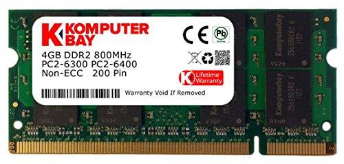 Komputerbay SODIMM Speichermodul (4GB, 200 Pin, 800MHz; PC2 6400 / PC2 6300, DDR2, CL 6)