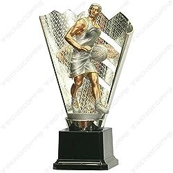 Trofeo Baloncesto H 22,00cm premiazione Baloncesto Etiqueta Personalizada compresa en el precio