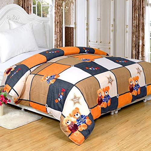 KAMIER Heimtextilien-Bettwäscheset Kinderbettwäsche Bettbezug Bettlaken Kissenbezug/Bettbezug wie in Abbildung 150X210cm Gezeigt