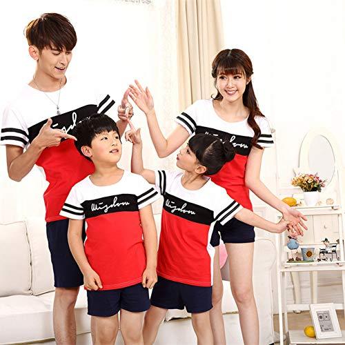 DAHDXD Madre e Hijo de Verano de Manga Corta Camiseta de la Familia a