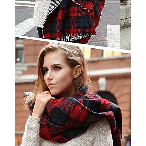 Otoño / invierno chal de gran tamaño de las mujeres reversibles con la tela escocesa de la marca MyBeautyworld24