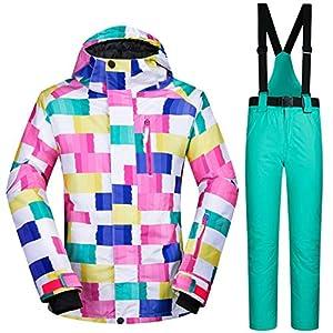 Ski-Anzüge Women's Suit Furnier Doppel-Brett im Freien wasserdicht Winddicht Warmhalten Breathable Winter Dicke Jacke