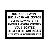 Nostalgic-Art 14016 Berlin CityStyle You are leaving..., Magnet, 8 x 6 cm