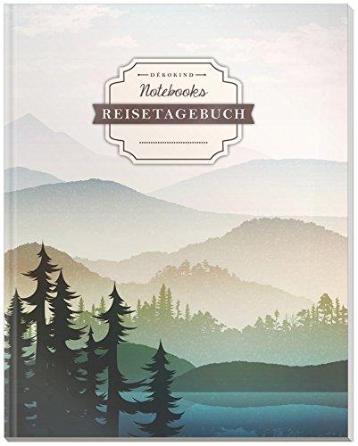 DÉKOKIND Reisenotizbuch zum Selberschreiben   DIN A4, 100+ Seiten, Register, Vintage Softcover   Perfekt als Abschiedsgeschenk   Motiv: Wanderurlaub