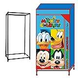 Mickey Mouse - Armario tela desmontable, 130 x 70 x 45 cm (Arditex WD8331)