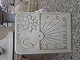 CATART Reloj DE Sol EN Piedra Pared Exterior Tempus FUGIT 59X38cm.
