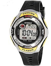 Kids Sport Watch 164 Feet Waterproof LED Digital Watch for Boys Yellow