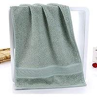 PWTY 2 Pc/Lot Toallas De Bambú Antibacteriales Suaves Súper Suave Toallas De Cara De Mano Baño Lavado De Cara Paño Textiles para El Hogar Toallas, Verde, 34X75 Cm
