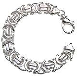 Flaches Königskette Armband 14mm - massiv 925 Silber, Länge 21cm