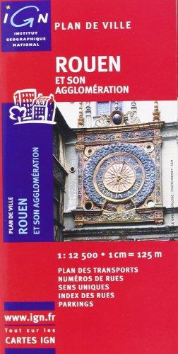 72219 Plan de Rouen avec Livret 1/12.500 par IGN Institut Géographique National