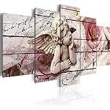murando - Bilder 200x100 cm - Leinwandbilder - Fertig Aufgespannt - Vlies Leinwand - 5 Teilig - Wandbilder XXL - Kunstdrucke - Wandbild - Engel Vintage b-C-0051-b-m