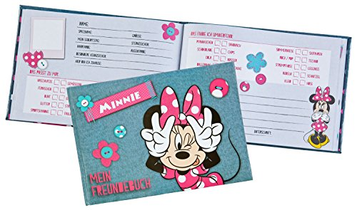 Undercover MIDS7293 Kindergartentasche, Disney Minnie Mouse, ca. 21 x 22 x 8 cm Freundebuch A5