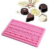 Stampo per Fondente, in Silicone per Decorazioni Fai da Te in Stile Europeo - Stampo in Stile Barocco a Forma di Fiore di Cioccolato - Strumento da Cucina, Random Color, Taglia Libera