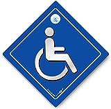 Behindertenausweis KFZ-Hinweisschild, Behinderte Auto Fenster, Behinderung Auto Schild mit Saugnapf, Blue Badge Holder disabilty Auto, Rollstuhlfahrer Auto Schild