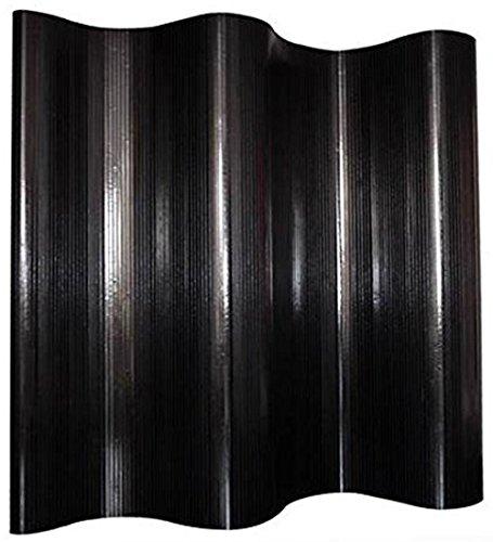 PEGANE biombo de bambú Negro 200 x 250 cm