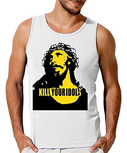 Kill Your Idols Jesus Design Men's Tank Top T-Shirt Medium