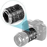 Neewer Auto Focus Macro Extension Tube Set for Canon EOS Mount Cameras 700D/T5i 650D/T4i 600D/T3i 1100D/T3 550D/T2i 500D/T1i 100D/SL1 400D/XTi 450D/XSi 300D/Digital Rebel 20D 30D 60D 5D Mark III 5D Mark II etc