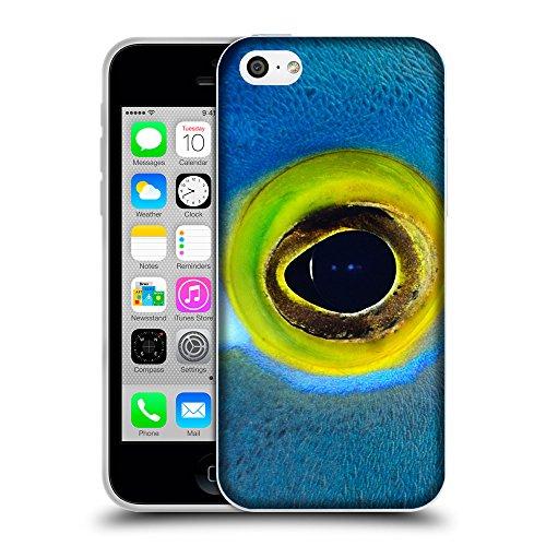Super Galaxy Schutz Hülle TPU Case Schutzhülle Silikon Tasche Dünn Transparent // V00003003 blaue Fische mit gelben Augen // Apple iPhone 5C