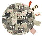 Cuscino termico tondo di noccioli di ciliegia trattamento a freddo/calore ideale per neonati e bambini piccoli fullprint fronte retro Gatti grigi Gray Cats [088]