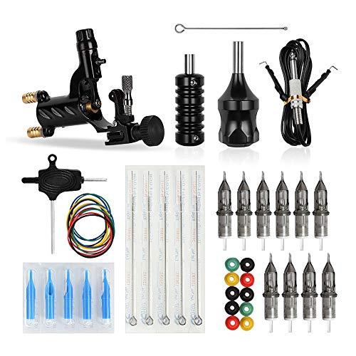 CHOULI Dragonfly Rotary Tattoo Maschine Shader Liner Motor Gun Griff Kit schwarz (Dragonfly Rotary Maschine)