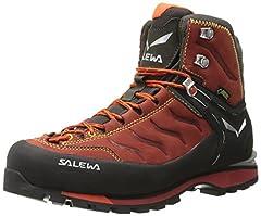 Idea Regalo - SALEWA Rapace Gore-Tex, Scarpe da trekking Uomo, Rosso (Indio/Mimosa 1609), 45 EU