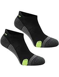 Pack of 2 Pairs Mens Karrimor Running Socks Low Rise Trainer Gym Anti Odour (Mens 7-11, Black/Fluo)