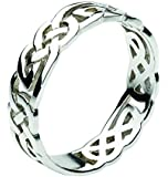Heritage Ladies Sterling Silver 2269 Celtic Open Knotwork Band Ring