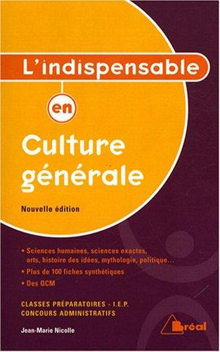 L'indispensable en culture générale par Jean-Marie Nicolle