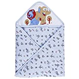 Littly Printed Hooded Baby Wrapper/ Blan...