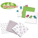 Odenwälder BabyNest Stoffwindeln // Doppel-Mullwindeln // Spucktuch // 6er Pack Girl // Praktische Größe 80x80 cm // Premium Qualität