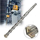 Supertool - Punte da trapano multi-materiale, punta per trapano a percussione, gambo rotondo, argento, per cemento, mattoni, foratura in vari materiali, argento