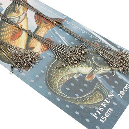 Oyedens 60pcs 8kg / 10kg / 12kg Salzwasser Silber Rostfreien Leitungsdraht Fischerei-Tools