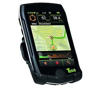 TEASI pro - Fahrrad- & Wandernavigation Europa mit Bluetooth , schwarz