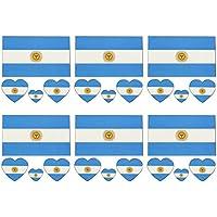 NiceButy 2018 Nacional Banderas de moda del tatuaje temporal Banderas Argentina tatuaje de la cara etiqueta