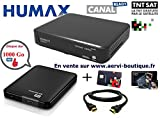 Pack Récepteur Satellite TNTSAT Humax TN8000HD PVR avec Disque Dur Externe Extra Slim 1 Téra 2,5