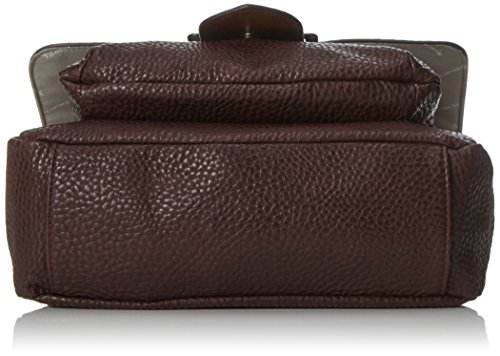Tamaris - Lee Satchel Bag, Borse a secchiello Donna Marrone (Dark Brown Comb)