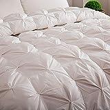 DJBNQ Weiße Daunendecke mit Daunendecke aus Federn Alle Jahreszeiten zählen hypoallergen 100% Baumwolle Shell Proof,genäht Weiß,150x200cm