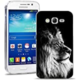 Samsung Galaxy Grand Neo Plus Funda, FoneExpert® Carcasa Cover Case Funda de gel TPU silicona Para Samsung Galaxy Grand Neo Plus i9060 / Galaxy Grand Neo + Protector Pantalla (Lion)