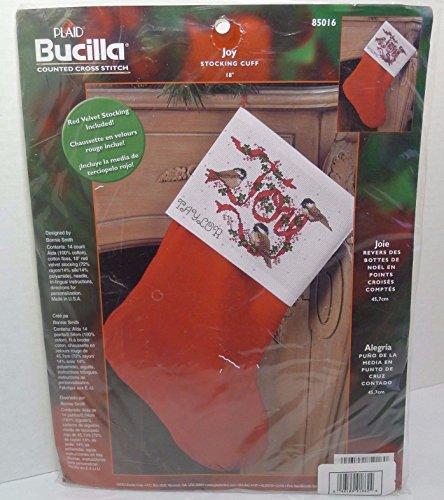 Bucilla - Joy 85016 Kreuzstich-Set mit Manschettenknöpfen -