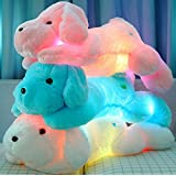 Wewill Brand Creative Night Light LED Stuffed Animals Lovely Dog Glow Plush Toys Gifts for Kids 20 inches 50CM