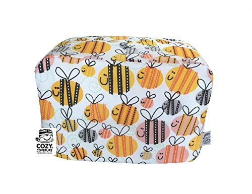 cozycoverup® Staub Cover für Toaster Buzzy Bees (Dualit newgen/Classic 3Slice) (Herren-toaster)