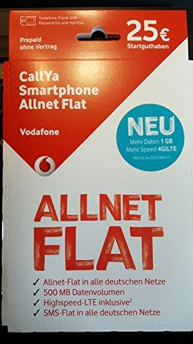 Vodafone CallYa Smartphone Allnet-Flat, 25 € SGH (Vodafone Sim-karte)