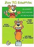 Geburtstagskarte XXL zum 70. Geburtstag, witzig + Umschlag