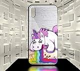 ForeverOne Coque Rigide pour iPhone X Licorne Humour Fun Collection 04