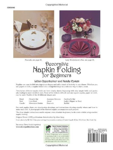 Decorative Napkin Folding for Beginners (From Stencils and Notepaper to Flowers and Napkin Folding)